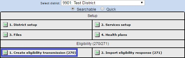 How do I submit 270 (X12) Eligibility test files in the new 5010